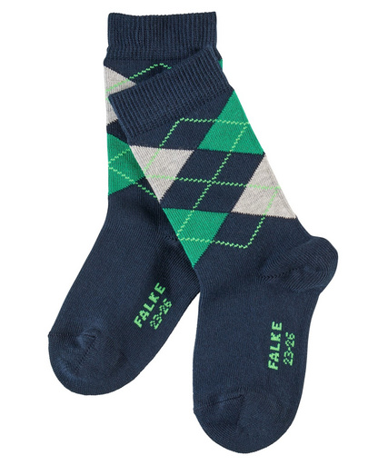 FALKE Clas Argyle SO marine Kids Socks