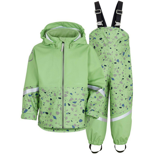 Otr. set - jakna in hlače WATERMAN PR KIDS SET Leek Green Terazzo Orig